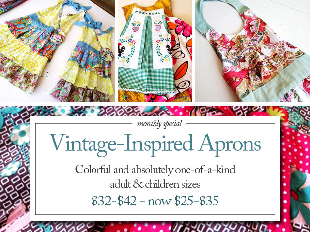 This month save on Vintage-inspired Aprons